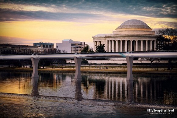 Hyperloop train Richmond to Washington