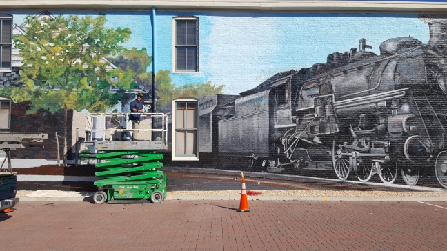 Train Mural Ashland VA