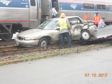 Amtrak incident Myrtle Street Ashland VA 2012