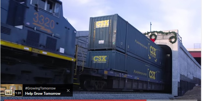CSX double stacker containers Ashland VA