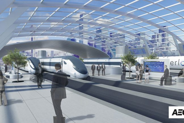 Hyperloop station