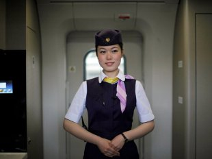Chinese High Speed Train Attendant