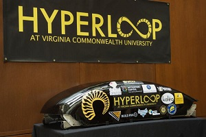 Hyperloop module developed by students at VCU.